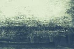 蓝色被绘的艺术性的帆布背景 免版税库存照片