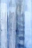 蓝色被绘的金属表面特写镜头  免版税库存照片