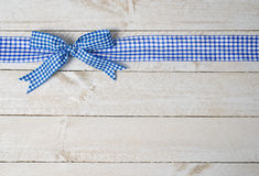蓝色装饰丝带 库存照片