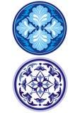 蓝色装饰品俄语样式 免版税图库摄影