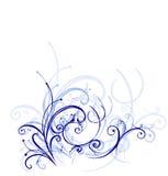 蓝色装饰品口气 免版税库存照片