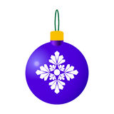 蓝色装饰圣诞节球 皇族释放例证