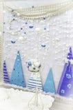 蓝色装饰 免版税库存照片