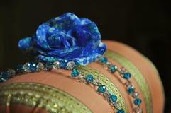 蓝色装饰 免版税库存图片