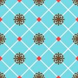 蓝色西班牙装饰陶瓷砖 库存照片
