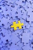 蓝色要素一难题黄色 库存图片