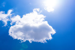 蓝色覆盖天空星期日 免版税图库摄影