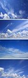 蓝色覆盖晴朗日的天空 库存图片