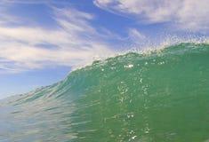蓝色覆盖海洋天波 免版税库存照片