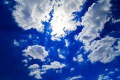蓝色覆盖深天空 图库摄影