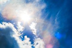 蓝色覆盖深天空 免版税库存图片