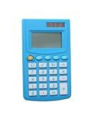 蓝色计算器 免版税图库摄影