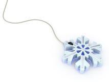 蓝色计算机光鼠标雪花样式 免版税库存图片