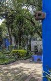 蓝色议院和庭院La住处Azul致力了芙烈达・卡萝 免版税库存图片