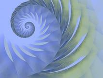蓝色设计绿色螺旋漩涡 图库摄影