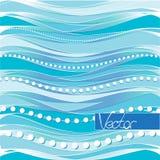 蓝色设计 传染媒介抽象构思设计 蓝色背景条纹 向量例证