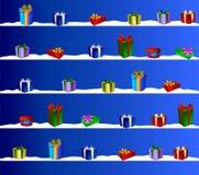 蓝色证明圣诞节礼品 免版税库存照片