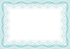 蓝色证明或文凭模板框架-边界 向量例证