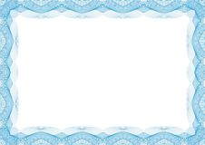 蓝色证明或文凭模板框架-边界 皇族释放例证