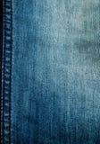 蓝色详细资料斜纹布 免版税库存图片