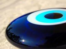 蓝色详细资料眼睛石头 库存图片
