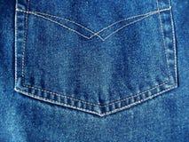 蓝色详述牛仔裤 免版税图库摄影