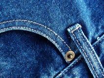 蓝色详述牛仔裤 免版税库存图片
