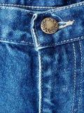 蓝色详述牛仔裤 库存图片