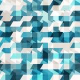 蓝色象素无缝的模式 库存图片