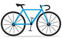 蓝色赛跑的自行车, vehiculo de dos ruedas 库存例证