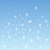 蓝色起泡背景 向量 免版税库存照片