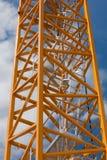 蓝色起重机框架天空台阶 免版税图库摄影