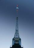 蓝色起重机详细资料巨大的端口天空 免版税库存照片