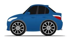 蓝色跑车 免版税图库摄影