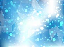 蓝色软的淡色Bokeh三角苍白抽象背景 库存图片