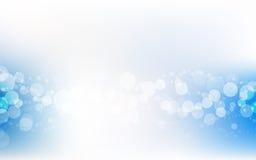 蓝色软的淡色Bokeh苍白白色抽象背景传染媒介 库存图片