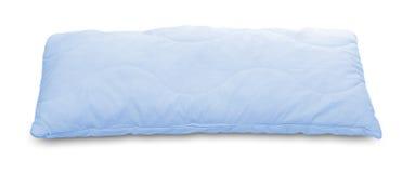 蓝色轻的枕头 免版税库存照片