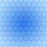 蓝色轻的模式无缝的雪花 免版税库存图片