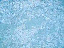蓝色轻的老墙壁 库存照片