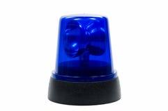 蓝色轻的警察 免版税图库摄影