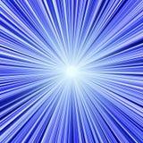 蓝色轻的隧道 免版税库存照片