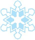 蓝色轻的雪花 免版税图库摄影