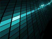 蓝色轻的马赛克数据条 免版税库存照片