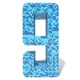 蓝色轻的黑暗的方形的马赛克陶瓷玻璃铺磁砖字体 免版税库存图片