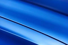 蓝色轿车车体 图库摄影
