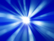 蓝色辐形抽象背景 库存例证