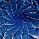 蓝色辐形螺旋抽象特征模式第2部分 免版税库存照片