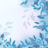 蓝色边界叶子 图库摄影