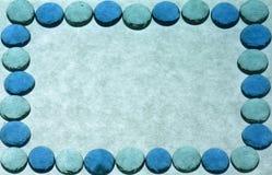 蓝色边界复制框架绿色大理石空间 图库摄影