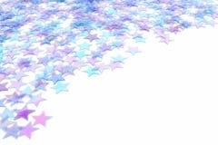 蓝色边界星形 免版税库存图片